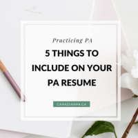 5 Things to Include on your Physician Assistant Resume and CV