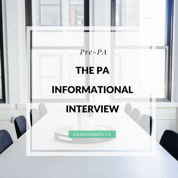 PA Informational Interview
